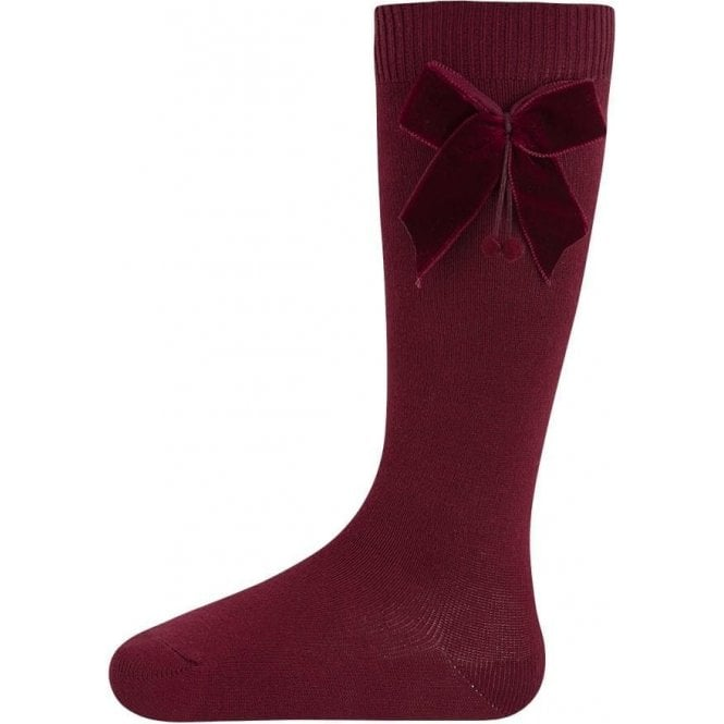 Condor Knee high socks with velvet bow