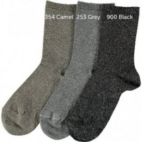 Lurex short socks_