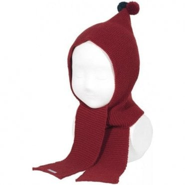 Pixie Bobble Hat - Burgundy
