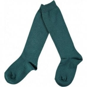 Plain knee high sock Petrol