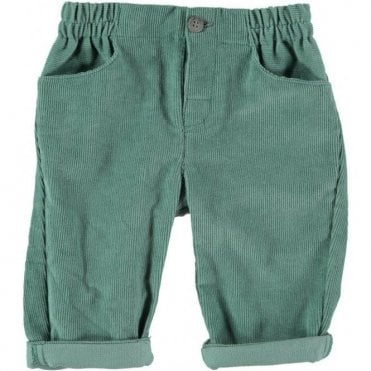 Baby green cord trousers