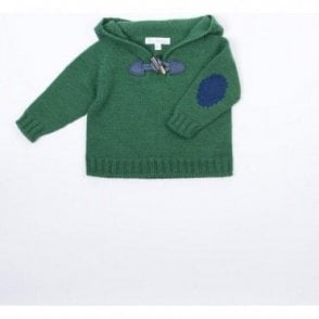 Fern green knitted jumper