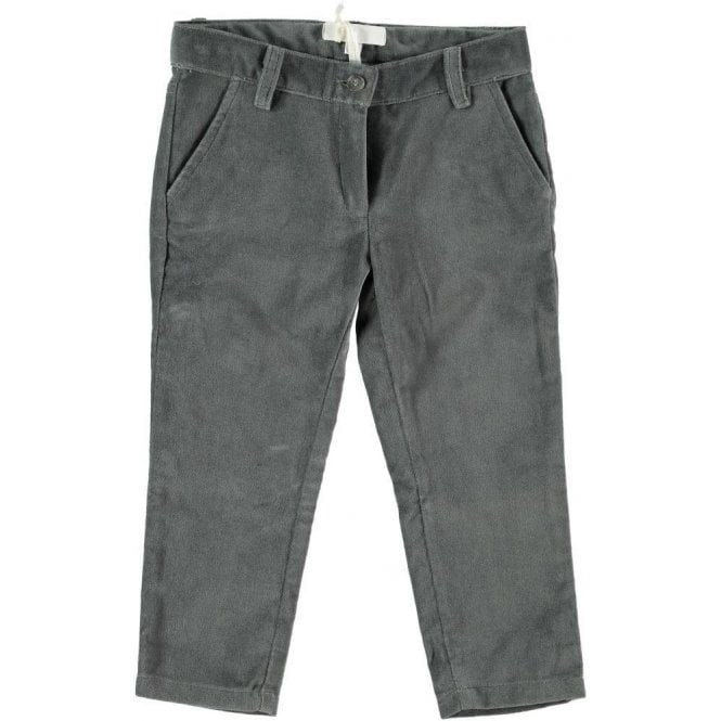 Fina Ejerique Girls charcoal fine cord trousers