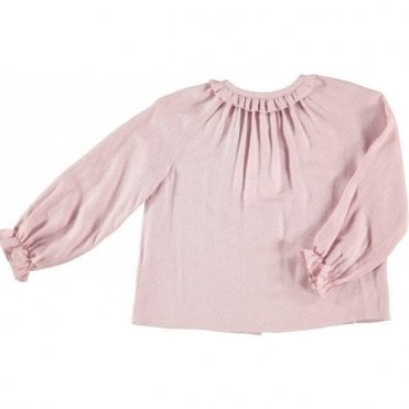 Girls powder pink blouse