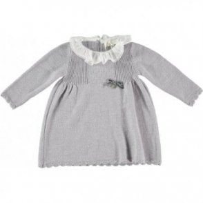Knitted grey baby dress
