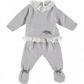 Knitted two piece baby outfit