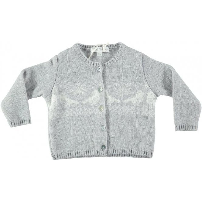 Fina Ejerique Snow flakes and birds cardigan