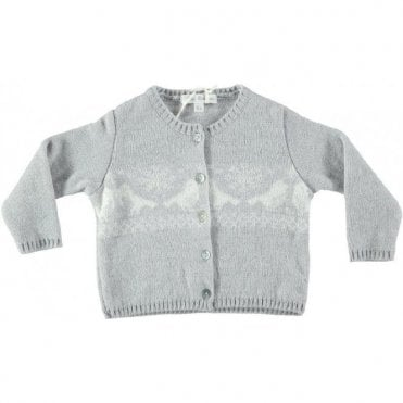 Snow flakes and birds cardigan