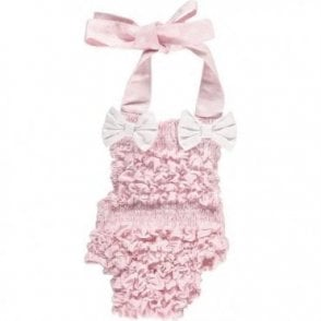 Frilly baby swimsuit