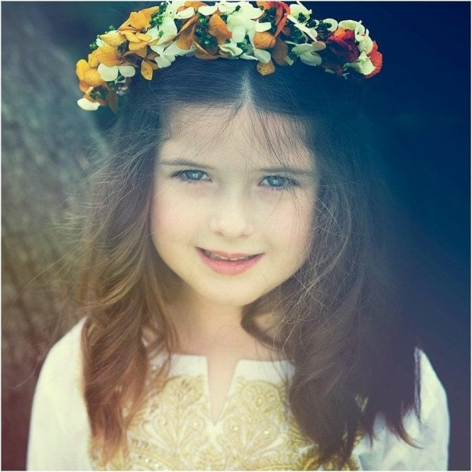 AliOli Kids Golden Floral Head Dress