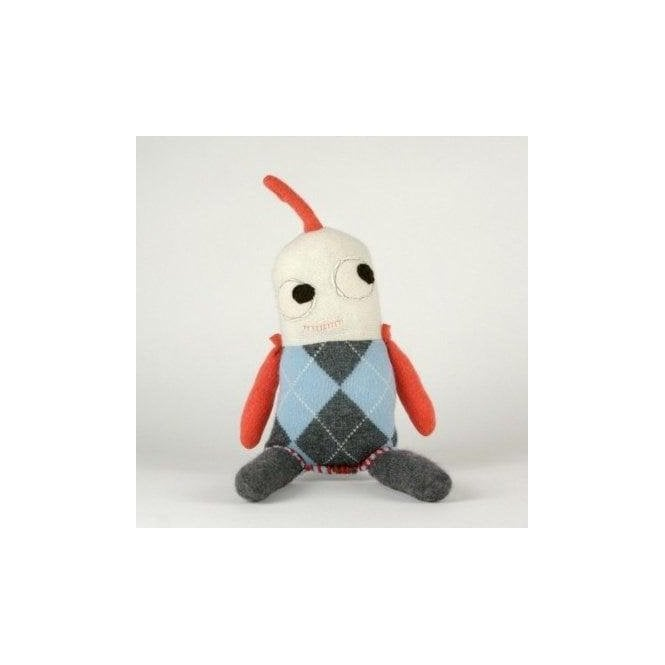 AliOli Kids Little Cuddly Argyle Monsters - Grey