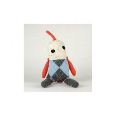 Little Cuddly Argyle Monsters - Grey
