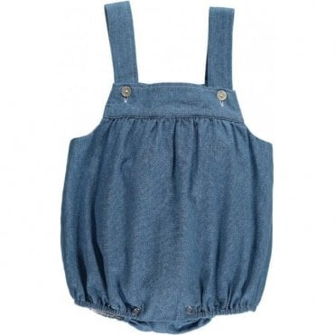 Soft denim romper