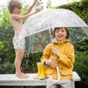 Yellow raincoat for boys and girls